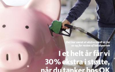 Støt ØB med et OK Benzinkort